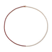 DIAMOND AND RUBY HEPBURN CHOKER 16""