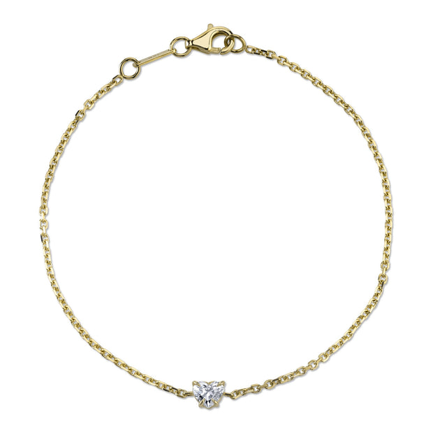 HEART SHAPE DIAMOND CHAIN BRACELET