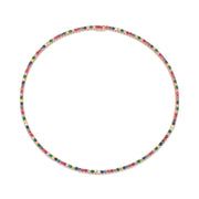 LARGE MULTI-COLORED DIAMOND AND GEMSTONE HEPBURN NECKLACE