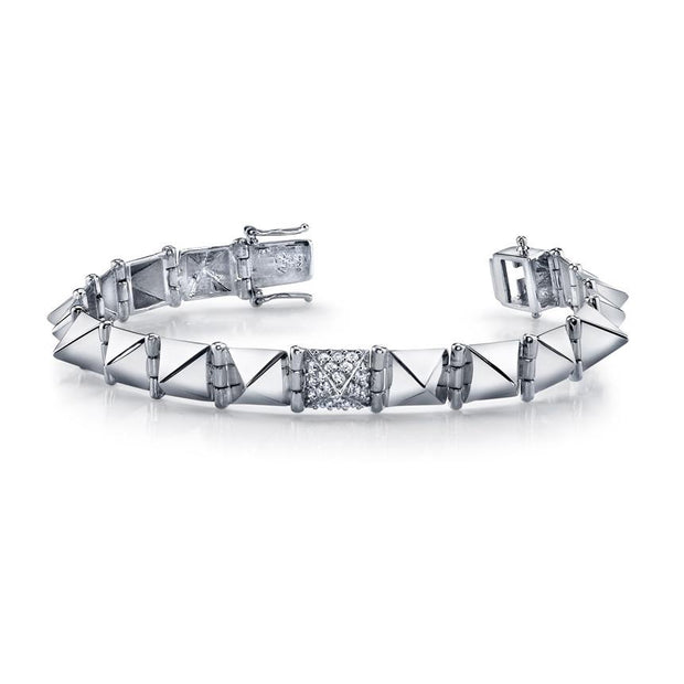 MEDIUM SPIKE BRACELET WITH ONE DIAMOND SPIKE
