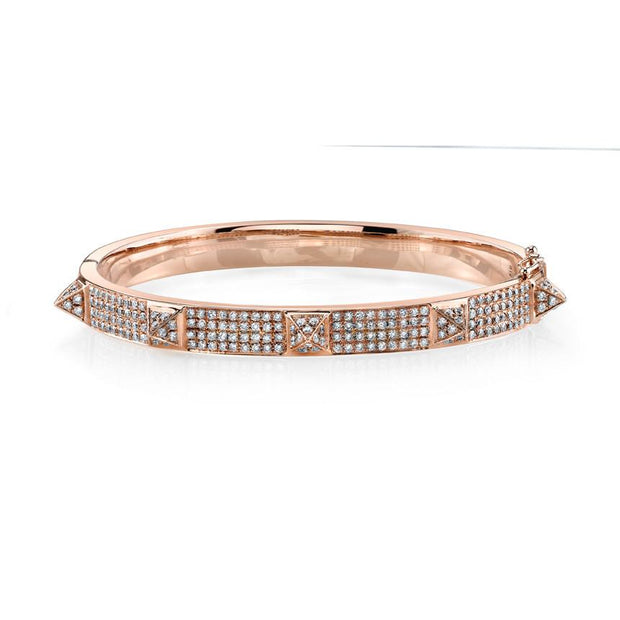 OVAL DIAMOND BRACELET WITH DIAMOND SPIKES