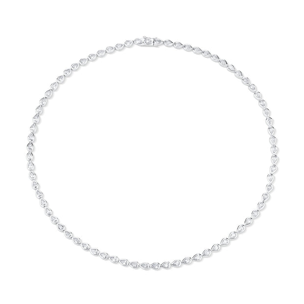 Pear diamond bezel choker