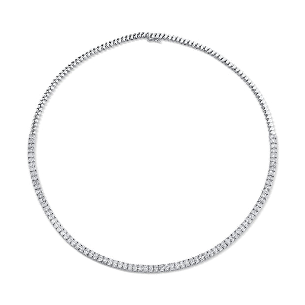 Oval diamond choker