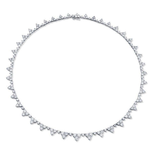 Large diamond triangle eternity choker