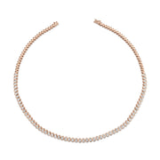 OVAL DIAMOND BEZEL CHOKER
