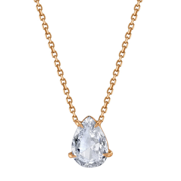 PEAR SHAPED DIAMOND PENDANT .70CT