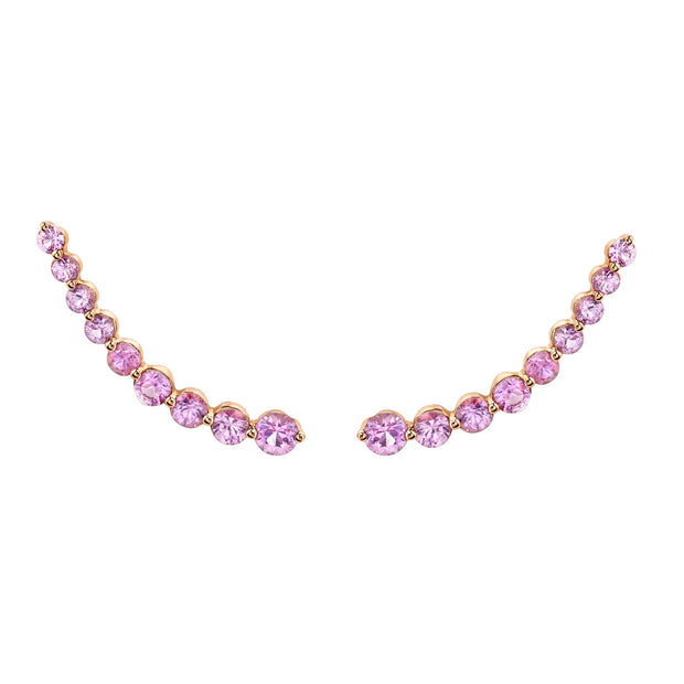 FLOATING PINK SAPPHIRE EARRING
