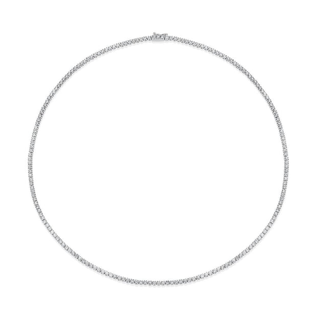 DIAMOND HEPBURN CHOKER 18""