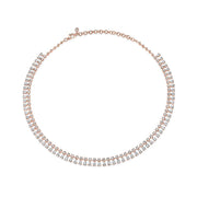 Round and pear diamond shaker necklace