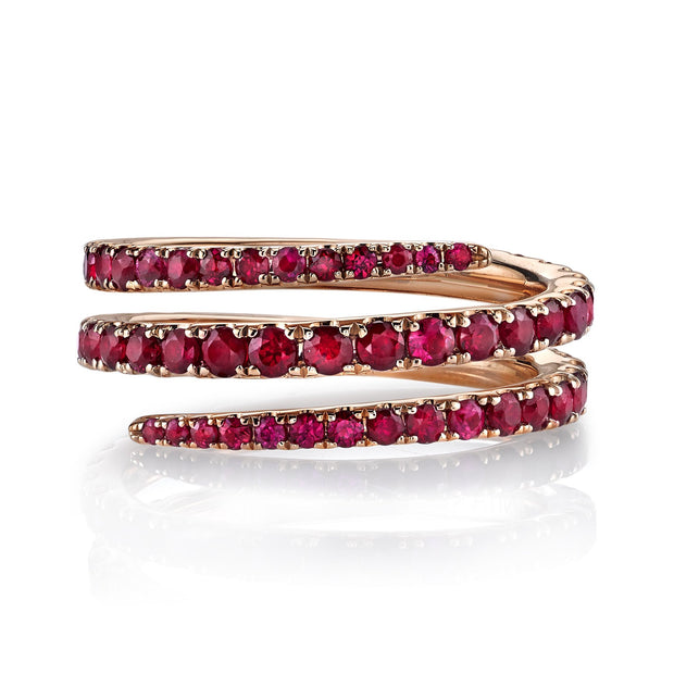 RUBY PINKY COIL RING