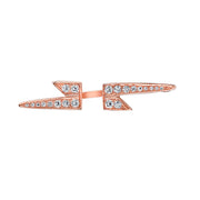 SINGLE DIAMOND LIGHTNING BOLT EARRING