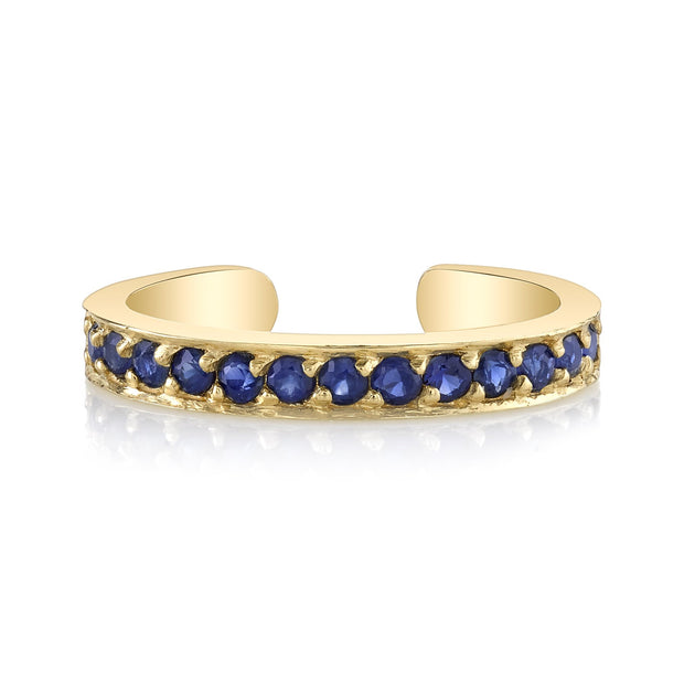 SINGLE ROW BLUE SAPPHIRE EAR CUFF