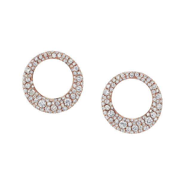 Small diamond galaxy earrings