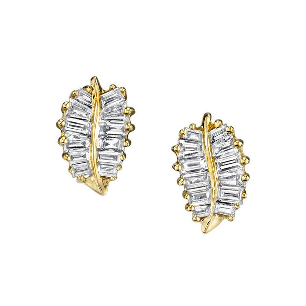 SMALL PALM LEAF STUDS