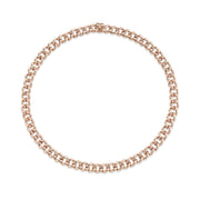 Plain small chain link necklace