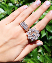 TWO ROW BAGUETTE GALAXY RING