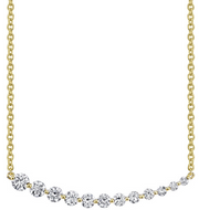 LARGE GRADUATED DIAMOND NECKLACE