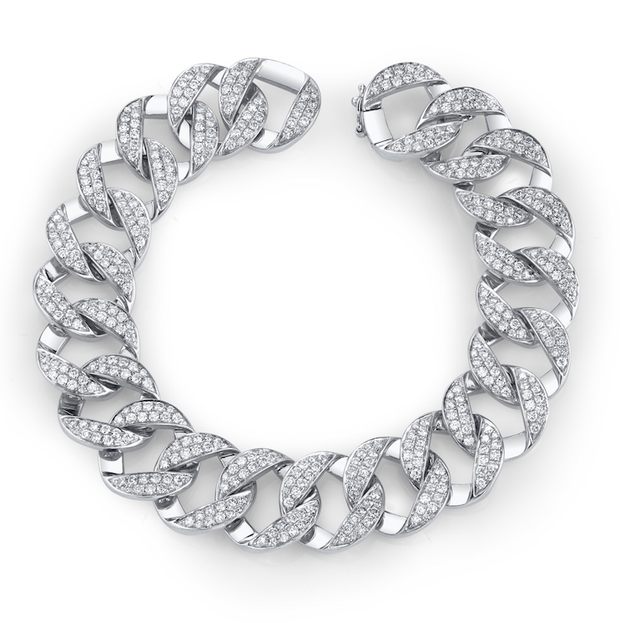 MEDIUM DIAMOND CHAIN LINK BRACELET