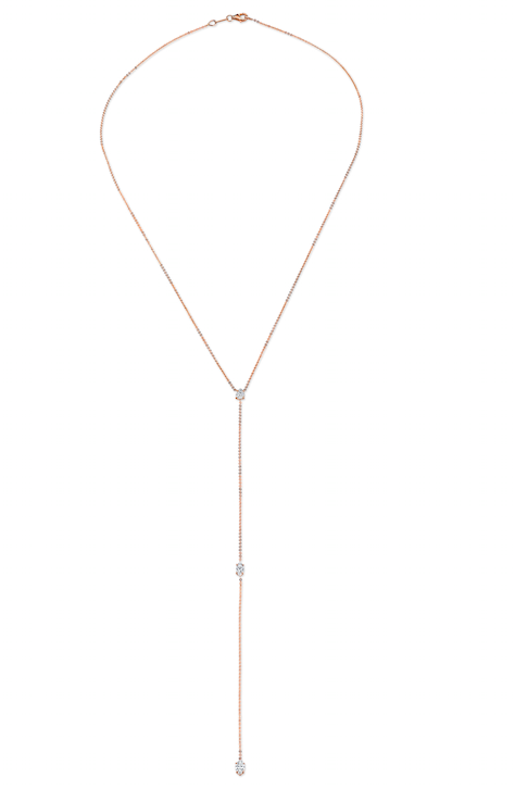 PEAR AND DOUBLE MARQUIS DIAMOND LARIAT