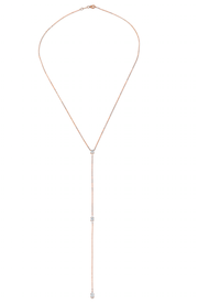 PEAR AND DOUBLE MARQUIS DIAMOND LARIAT WG