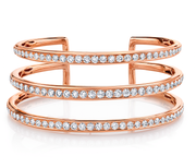 THREE-ROW DIAMOND CUFF
