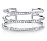 THREE ROW DIAMOND CUFF
