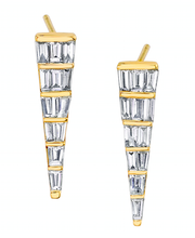 MEDIUM BAGUETTE DAGGER EARRINGS