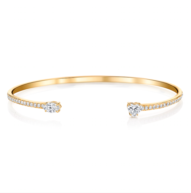 HEART AND MARQUIS DIAMOND SPLIT CUFF