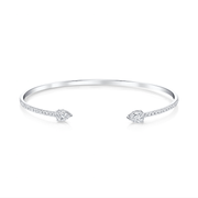 DOUBLE PEAR DIAMOND SPLIT CUFF