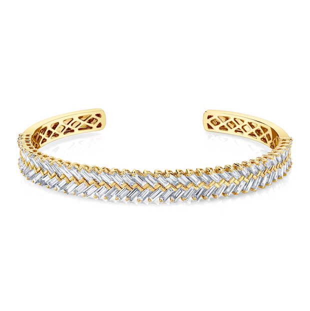 ZIPPER DIAMOND CUFF