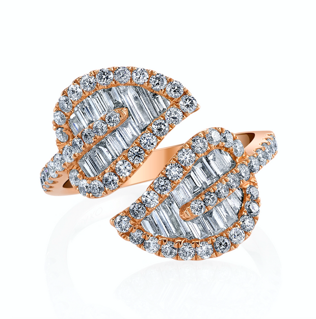 MEDIUM LEAF DIAMOND RING