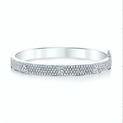 PAVE OVAL BRACELET with 3 TRILLION DIAMONDS