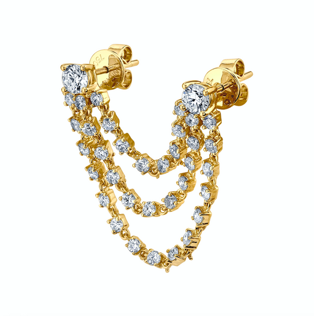 BIANCA DIAMOND LOOP EARRING