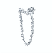 BAR DIAMOND LOOP EARRING