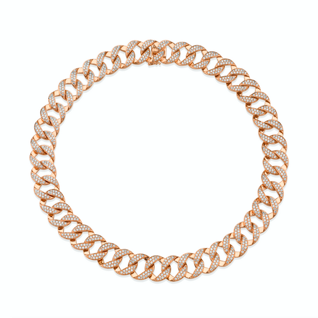 MEDIUM DIAMOND CHAIN LINK CHOKER