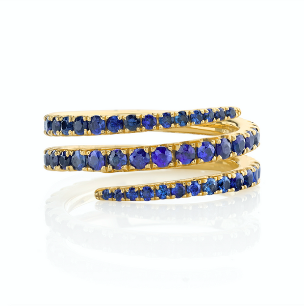 BLUE SAPPHIRE COIL RING