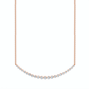 EXTRA-LARGE DIAMOND CRESCENT NECKLACE