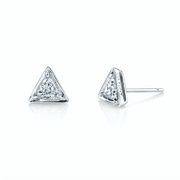 TRIANGLE SHAPED DIAMOND STUD EARRINGS