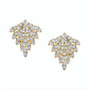 Yellow gold snowflake earrings