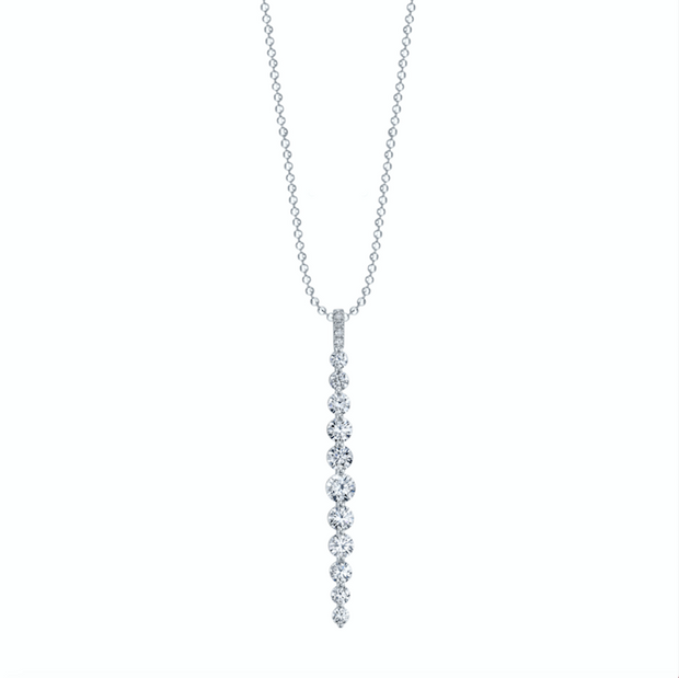Large diamond twiggy necklace