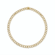 NAPLES DIAMOND CHAIN LINK CHOKER