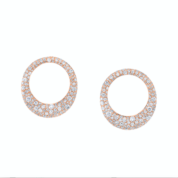 LARGE PAVE DIAMOND GALAXY EARRINGS