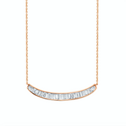 BAGUETTE DIAMOND CRESCENT NECKLACE