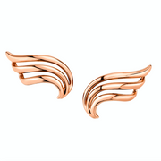 Large plain wave earrings