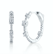 MEDIUM DIAMOND COLLINS HOOPS