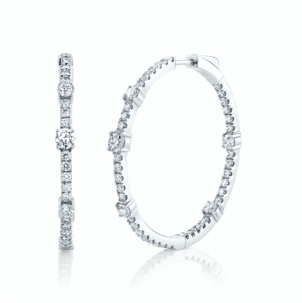 Large diamond collins hoops