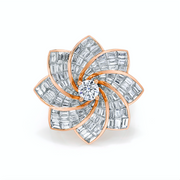DIAMOND STARBURST FLOWER RING