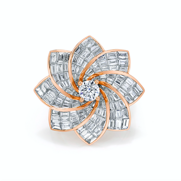Starburst flower ring