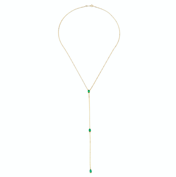 EMERALD PEAR LARIAT
