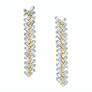 SHORT ZIPPER DIAMOND EARRINGS